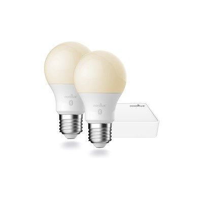 Nordlux Starter Pack - 2 x E27 A60 8,5W + Smart Light Bridge